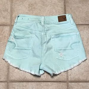 American Eagle Outfitters Shorts - SALE AEO distressed Mint Green Denim Cutoff Shorts